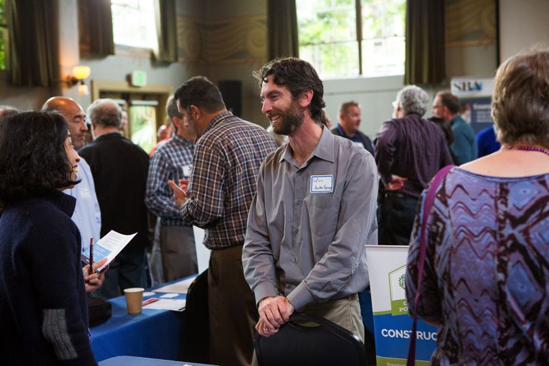 PAMPLIN MEDIA GROUP: ADAM WICKHAM - Will Thier, Project Manager, was part of the Prosper Portland presence at the open house. The agency is working hard to show its new, rebranded face to the city and prove it is inclusive of minorities, women and small businesses.