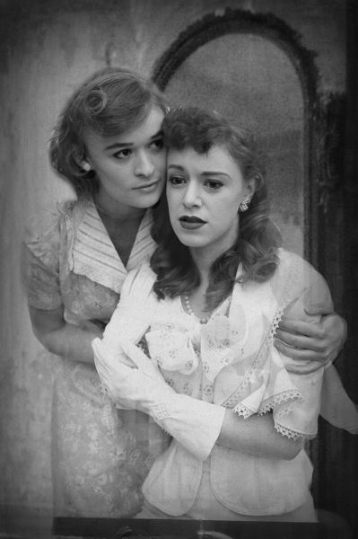 CONTRIBUTED PHOTO: CLACKAMAS COMMUNITY COLLEGE - Rachel Polley Is Stella DuBois and Allie Anderson is Blanche DuBois in Clackamas Community College's production of A Streetcar Named Desire.
