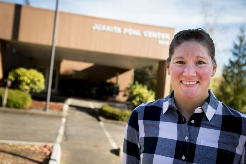 TIMES PHOTO: JAIME VALDEZ - Sara Shepherd is the new supervisor at the Juanita Pohl Center.