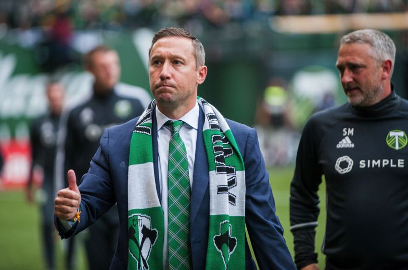 TRIBUNE FILE PHOTO: JAIME VALDEZ - Portland Timbers coach Caleb Porter is hoping to have some improvement in his team's health in time for the Sunday playoff home game against the Houston Dynamo.