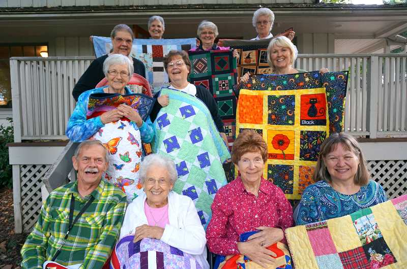 SUBMITTED PHOTO - Wilsonville Piecemakers, which produces and donates about 150 quilts every year, received more than $7,000 in a grant from the City of Wilsonville.