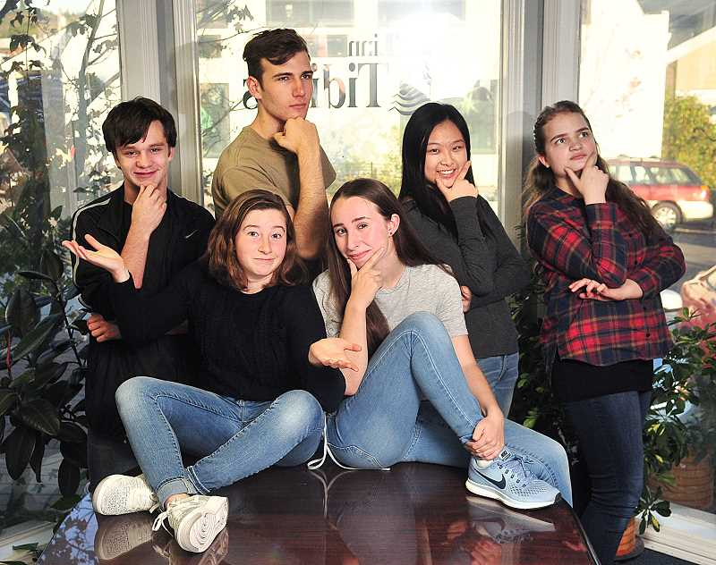 REVIEW PHOTO: VERN UYETAKE - Meet the 2017-18 Student Writers Advisory Group (from left): Wallace Milner, Penny Spur, Joe Lantow, Claire Petersen, Olivia Weng and Lily DeVine. (Not pictured: Karthik Sreedhar and Erica Chiang.)