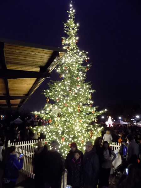 GAZETTE FILE PHOTO - The annual Sherwood Tree Lighting event follows shortly after the Winter Festival parade set for 4 p.m. on Dec. 2
