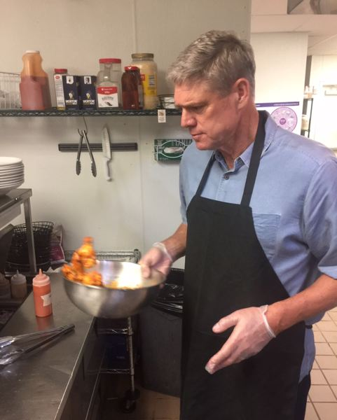 Dale Murphy works at his restaurant in Atlanta.
