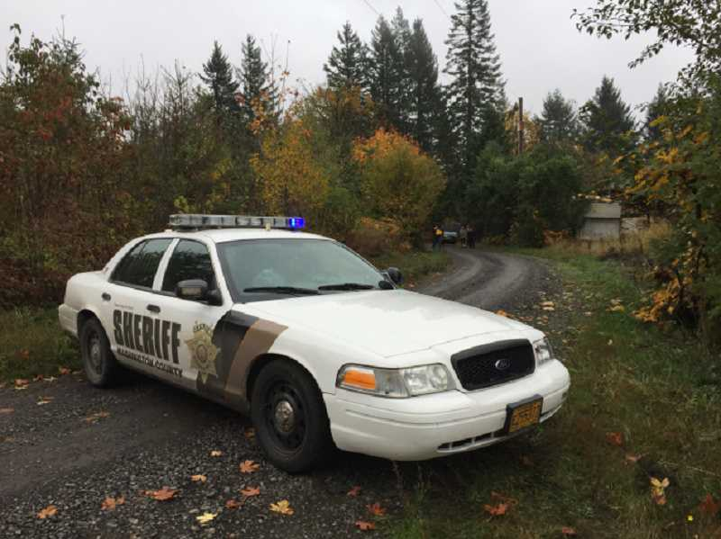 COURTESY PHOTO - The Washington County Sheriff's Office responded to a report of a body found north of North Plains, on Nov. 3