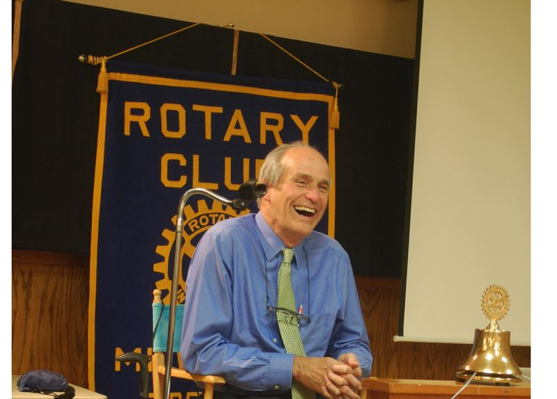 RAYMOND RENDLEMAN - Bill Bradbury at the Milwaukie Rotary Club on Oct. 31.