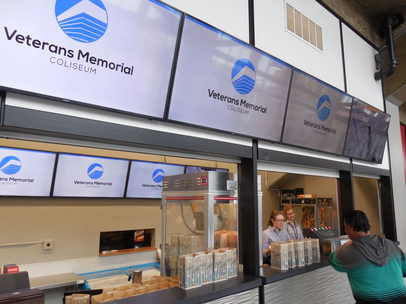 PAMPLIN MEDIA GROUP: JOSEPH GALLIVAN - Concessions at the VMC have been moderenized as part of the City's $5 million refresh.
