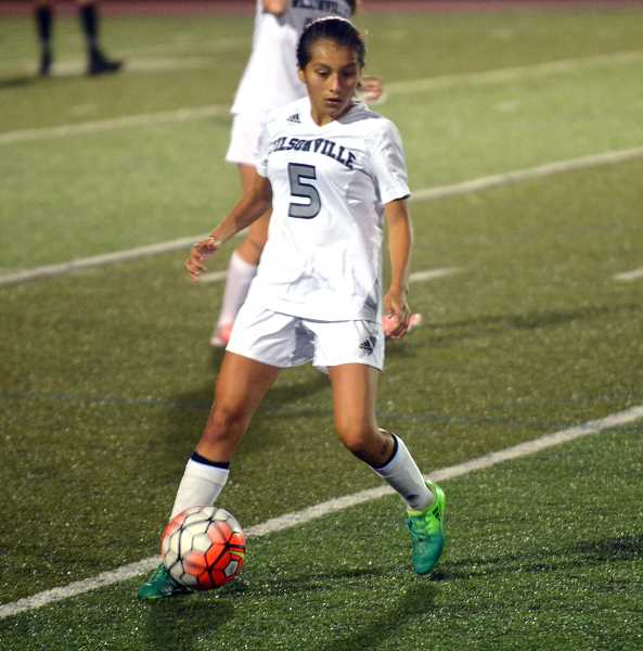 SPOKESMAN PHOTO: TANNER RUSS - Sophomore Araxi Tejeda-Martinez was a valuable presence in the midfield this season for the Wildcats. The team finished their season 3-8-3 overall.