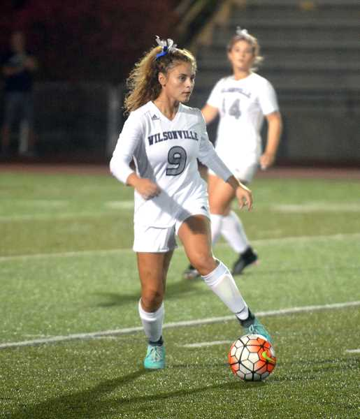 SPOKESMAN PHOTO: TANNER RUSS - Sophomore Courtney Ellis was an anchor on the backline for the Wilsonville girls team this season. They finished 3-8-3 overall, 2-3-2 in league play.