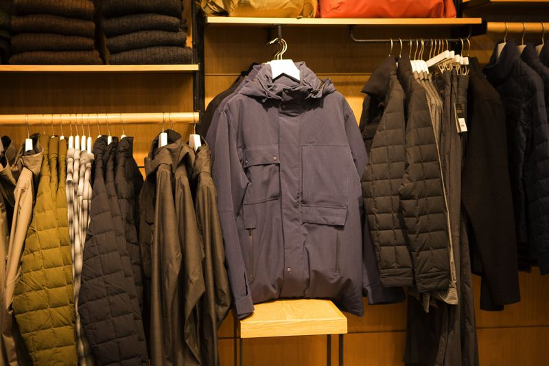PAMPLIN MEDIA GROUP: ADAM WICKHAM - Outdoor apparel company Nau specializes in tailored pieces in neutral colors, as the fall collection in its Pearl District store attests. The pieces are recognizable for their seam and pocket placement rather than any logo.