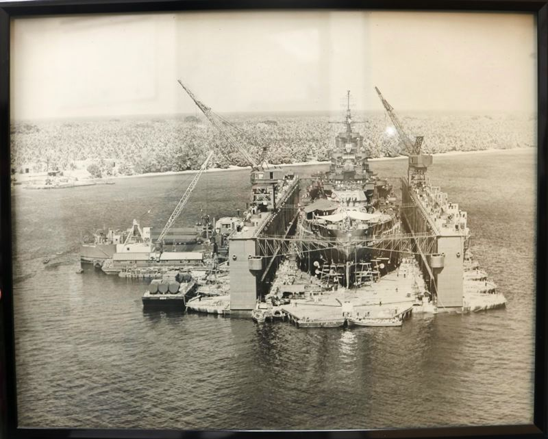OUTLOOK PHOTO: ZANE SPARLING - The U.S. ABSD-1, shown here, was a massive floating drydock that could repair any ship in the U.S. Navy's fleet. It was decomissioned in 1987.