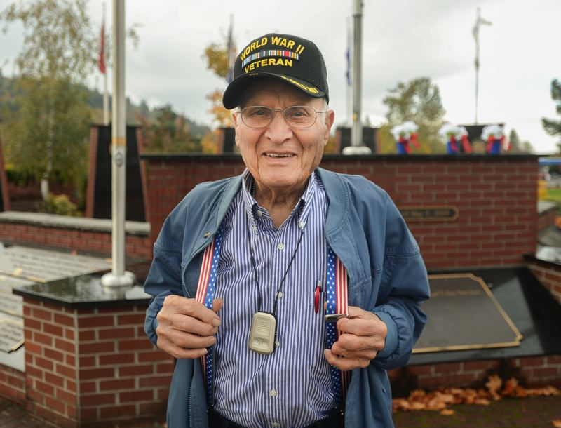 OUTLOOK PHOTO: JOSH KULLA - Imer Henry, 93, served as a pharmacist's mate second class in the U.S. Navy during World War II.