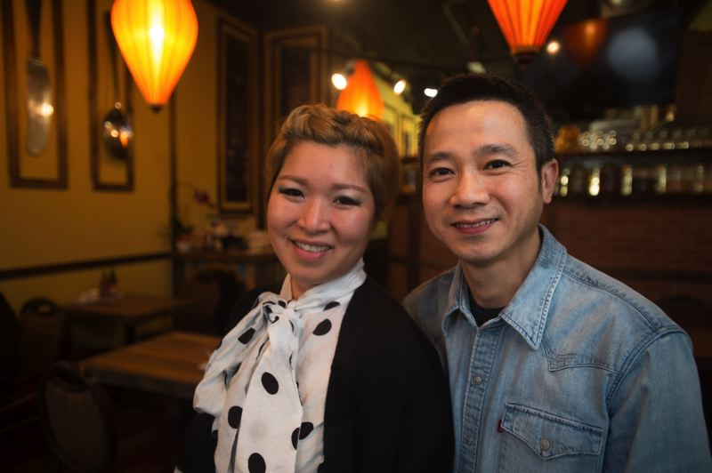 OUTLOOK PHOTO: JOSH KULLA - Jasmine Nguyen and Pham Kong recently opened Pho.com in downtown Gresham, reviving an earlier rendition of the restaurant that once served Vietnamese food in southeast Portland.