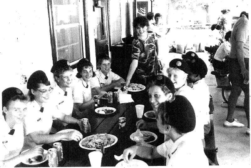 CONTRIBUTED PHOTO - Della Swails, pictured the second from the front on the left, is the third of four generations in her family to serve in the military.