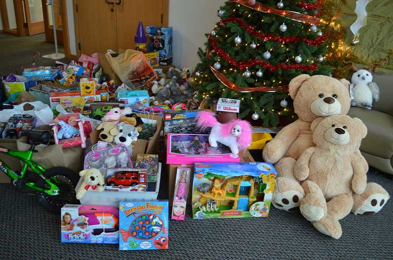 SUBMITTED PHOTO - Last year, Wilsonville residents donated 634 new, unopened toys.