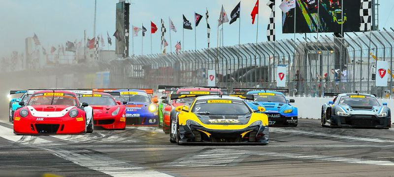 COURTESY PWC - The turn one start for the 2017 Pirelli World Challenge race in St. Petersburg, Florida.