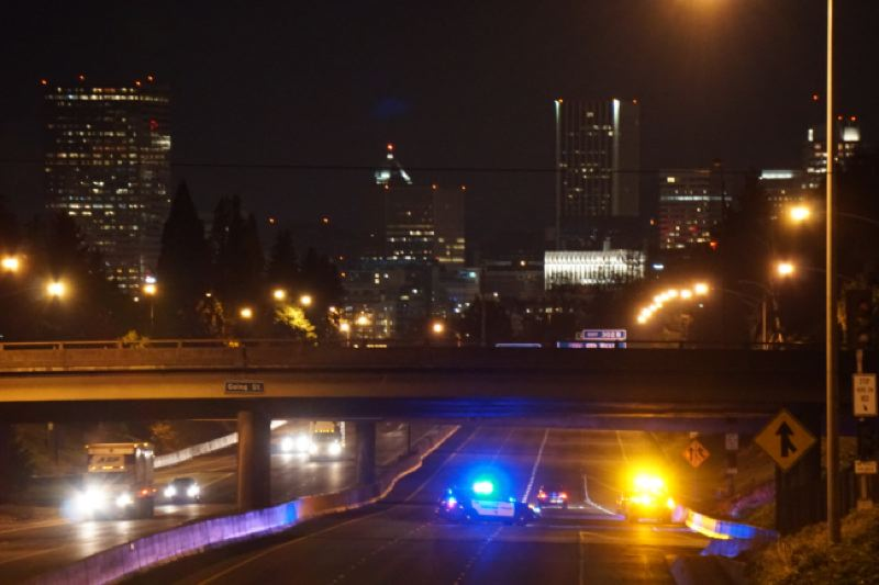 KOIN 6 NEWS - A woman was found laying in lanes of the I-5 near the NE Skidmore Street overpass.