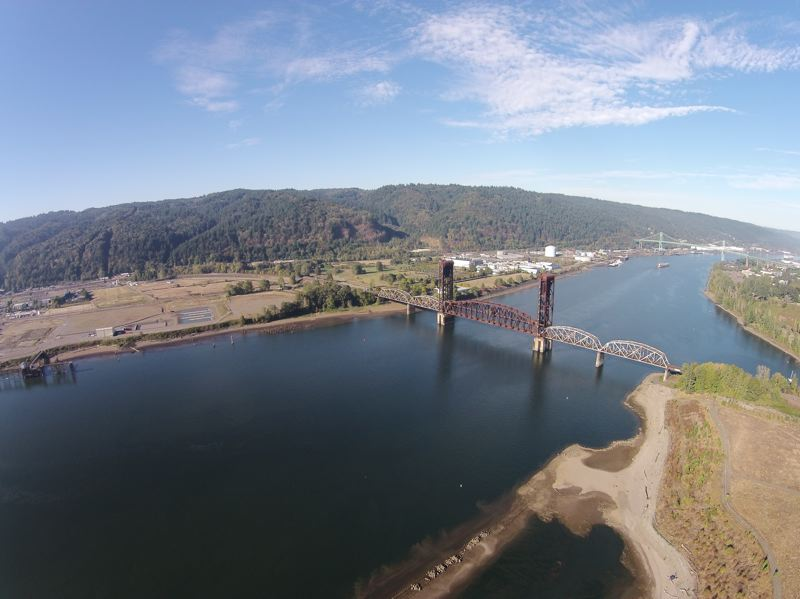 COURTESY TRAVIS WILLIAMS, WILLAMETTE RIVERKEEPER - The Willamette River downstream from downtown Portland is part of the vast Portland Harbor Superfund site.