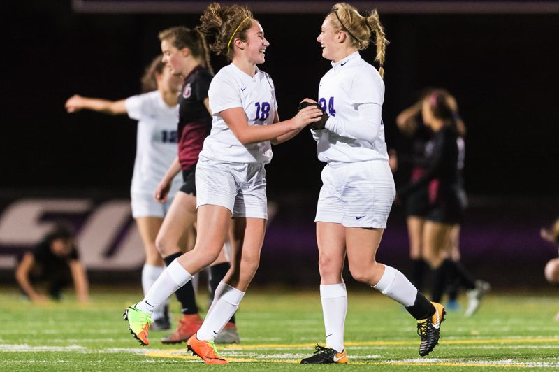 TIMES PHOTO: CHRIS OERTELL - The Sunset girls soccer team beat Glencoe in the 6A semifinals and will face Jesuit in the title game on Saturday.
