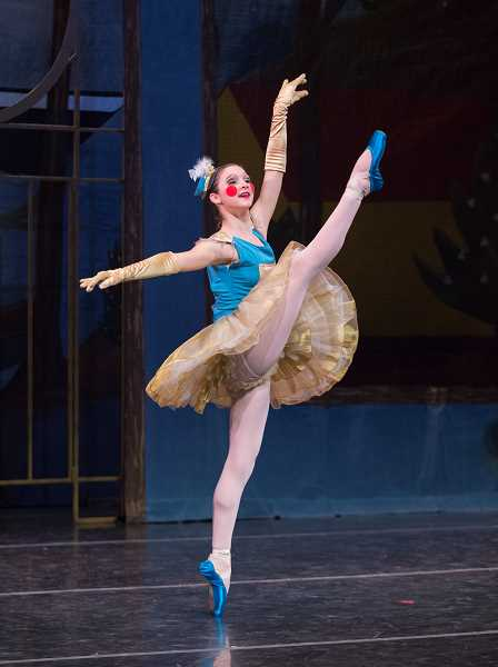 SUBMITTED PHOTOS: BLAINE TRUITT COVERT  - Elliana Kirk of Lake Oswego is in the Career Track program with The Portland Ballet. She will dance the part of the Commander in The Enchanted Toyshop.