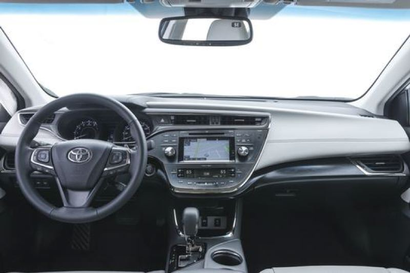 TOYOTA MOTOR COMPANY - The interior of the 2017 Toyota Avalon inlcudes a stylish off-set dash with a large dispaly screen and easy-to-use controls.