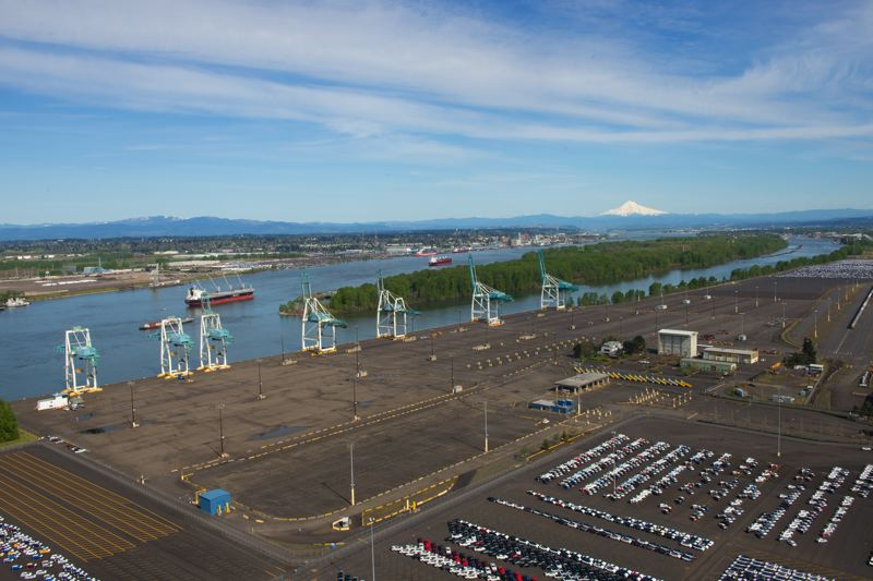 COURTESY: PORT OF PORTLAND - Termainl 6 at the Port of Portland will see some some container action in January 2018 from Swire's monthly calls, bringing goods from Asia and taking Daimler trucks to Australasia.