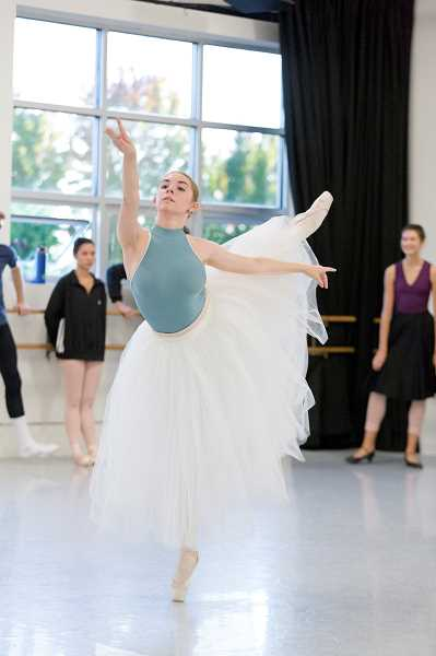 """COURTESY: PORTLAND BALLET - Ariana Davis, 15, rehearses for her role as the Blue Fairy in Portland Ballet's upcoming production of """"The Enchanted Toyshop."""""""