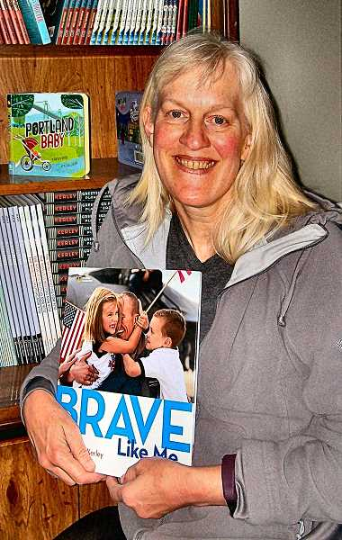 RITA A. LEONARD - Sellwood author Barbara Kerley won an Oregon Spirit Award for her pictorial childrens book, Brave Like Me - and a second award for a story of hers in a childrens collection.