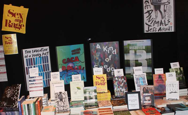 REVIEW PHOTO: COREY BUCHANAN - Myriad books were on sale in The Mark Building at Wordstock.