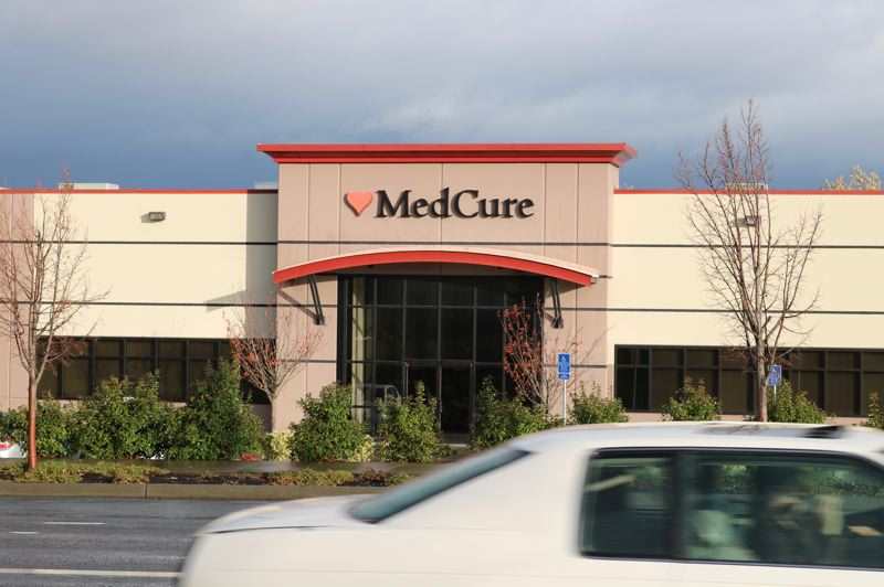 OUTLOOK PHOTO: ZANE SPARLING - The exterior of MedCure's Gresham headquarters.