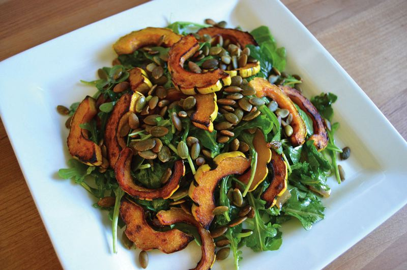 COURTESY: CARLY KELLOGG KNOWLES - Roasted Half Moon Squash Salad