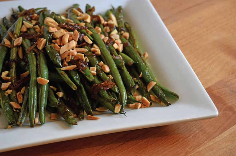 COURTESY: CARLY KELLOGG KNOWLES - Eating healthy side dishes doesn't have to be work. This holiday season, try something like this green beans with shallots dish.
