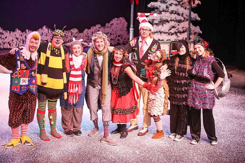 CONTRIBUTED PHOTO: CLACKAMAS COMMUNITY COLLEGE - The cast of 'Wing It' will soon bring a special holiday show to audiences.