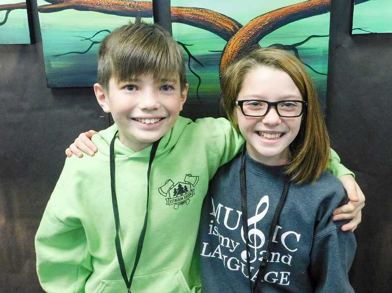 ESTACADA NEWS PHOTO: EMILY LINDSTRAND - Twins Trey and Ava Shibahara are in sixth grade at Estacada Middle School.
