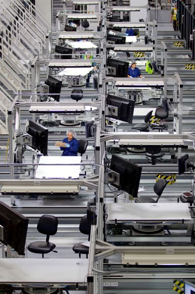 PAMPLIN MEDIA GROUP FILE PHOTO  - SolarWorld's Hillsboro plant floor back in 2010.
