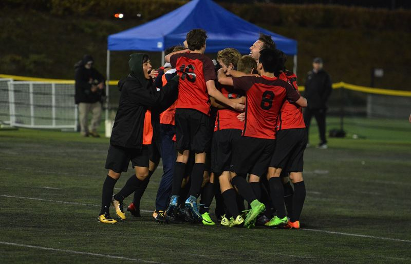 TIMES PHOTO: MATT SINGLEDECKER - The Westview boys soccer team beat Jesuit in the Class 6A state championship game on Saturday at Hillsboro Stadium.