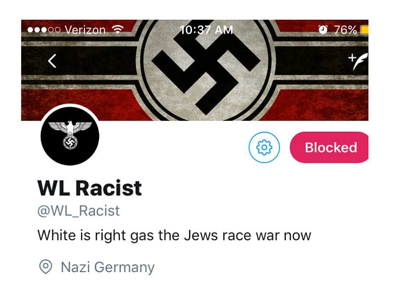 A Twitter page called 'WL Racist' appeared online briefly, targeting groups and individuals at the high school.
