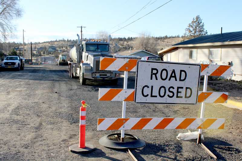 HOLLY M. GILL - Construction has moved further west on H Street, as Knife River crews work on the H Street Pedestrian Project. Much of the road is expected to be paved in the spring.