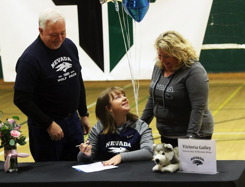 DAN BROOD - Tigard senior Victoria Gailey signed her letter of intent to golf at the University of Nevada.