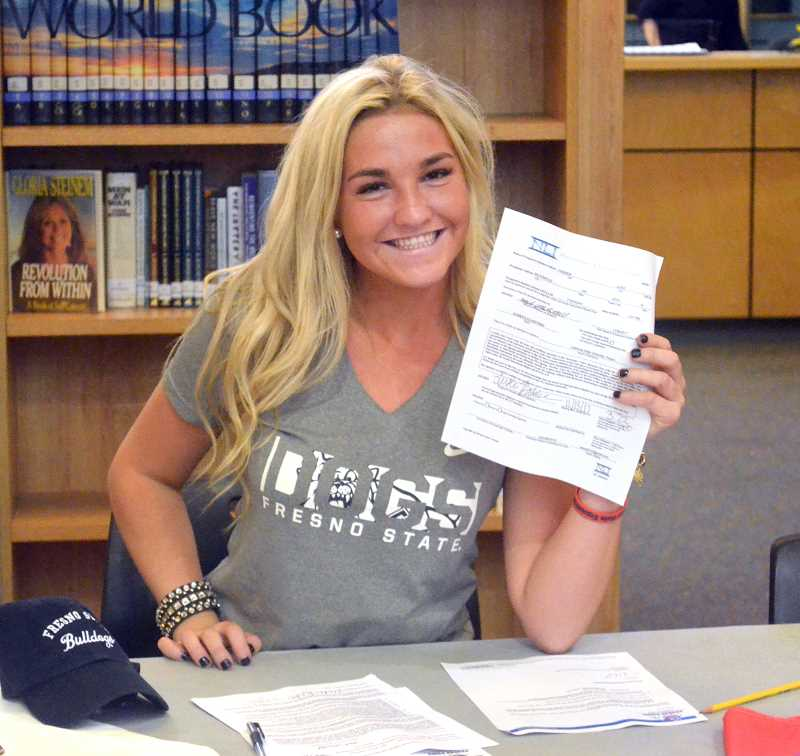 SPOKESMAN PHOTO: TANNER RUSS - Padrick (senior) has signed a letter of intent to attend Fresno State and compete as part of the Bulldogs equestrian team.