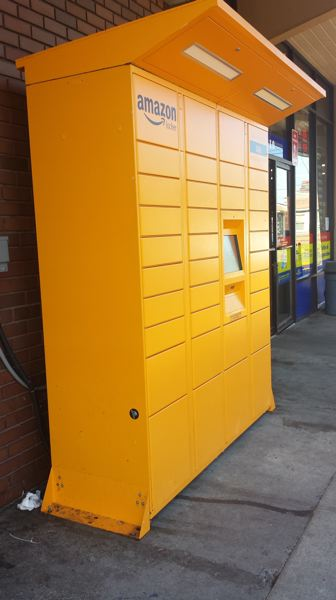 PAMPLIN MEDIA GROUP: JOSEPH GALLIVAN - Amazon lockers as seen around Portland at convenience stores since early 2017. Same concept, just less high touch than downtown.