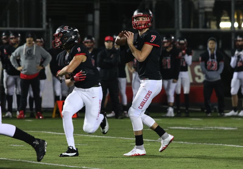 REVIEW PHOTO: JIM BESEDA - Clackamas senior quarterback Mitchell Modjeski and the second-ranked Cavaliers host No. 10 Central Catholic at 7 p.m. Friday in the Class 6A state semifinals.