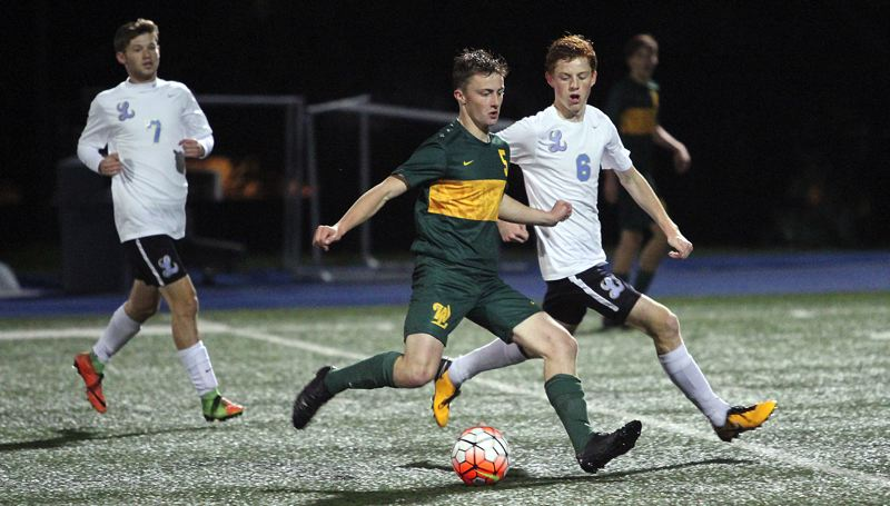 TIDINGS PHOTO: MILES VANCE - West Linn senior midfielder Bryan Chapman was recently named to the 2017 all-Three Rivers League first team.