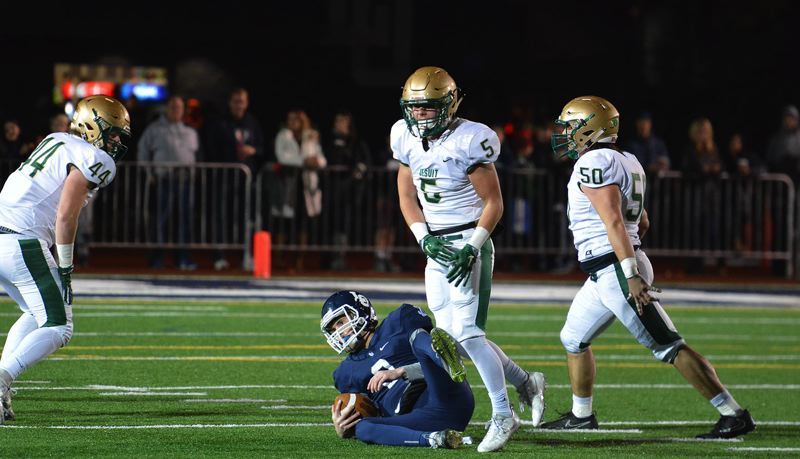 TIMES PHOTO: MATT SINGLEDECKER - Jesuit junior Josh Daul and the Crusaders lost in the Class 6A quarterfinals to Lake Oswego.