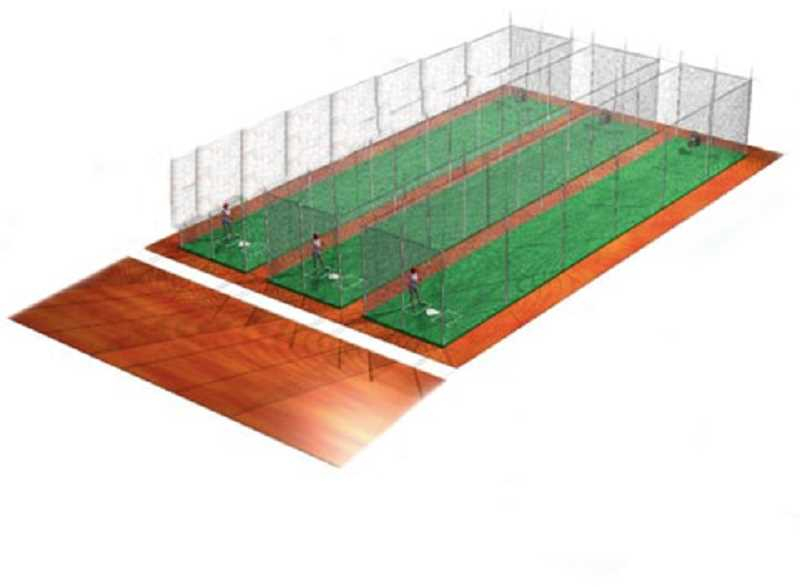 COURTESY PHOTO - As seen here, the proposed facility would have three hitting lanes and be adaptable with movable netting.