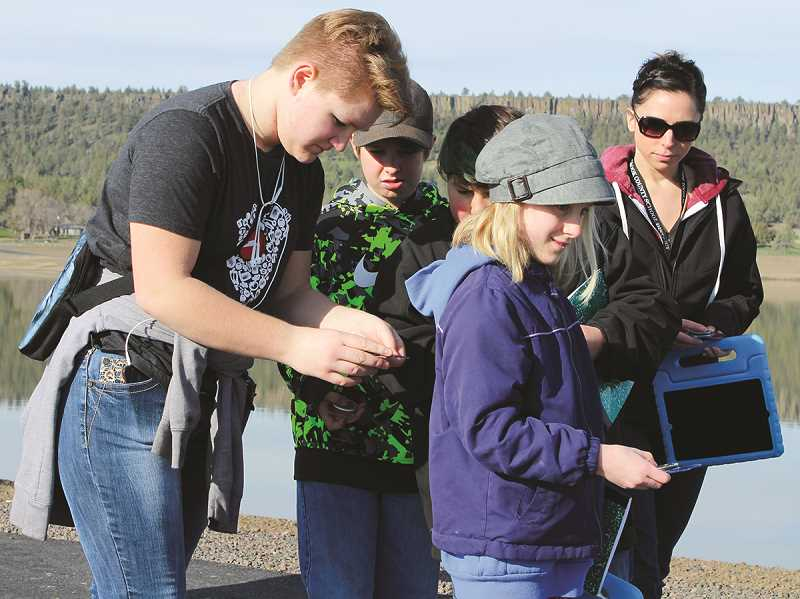 CENTRAL OREGONIAN - Last spring, Powell Butte Community Charter School fifth- and seventh-graders took a field trip to the Crooked River Wetlands Complex as part of their placed-based education curriculum. High school students helped teach compass use.