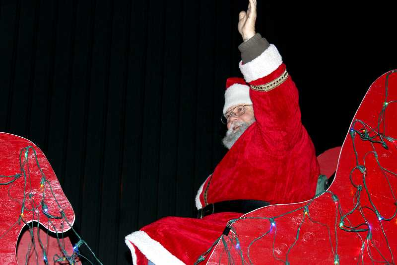 PIONEER FILE PHOTO - Pictured is Santa Claus during last year's parade and tree lighting.