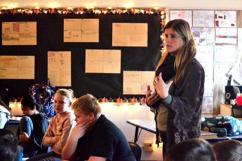 POST PHOTO: BRITTANY ALLEN - Sarah Dummer has taught at Oregon Trail Academy for three years.