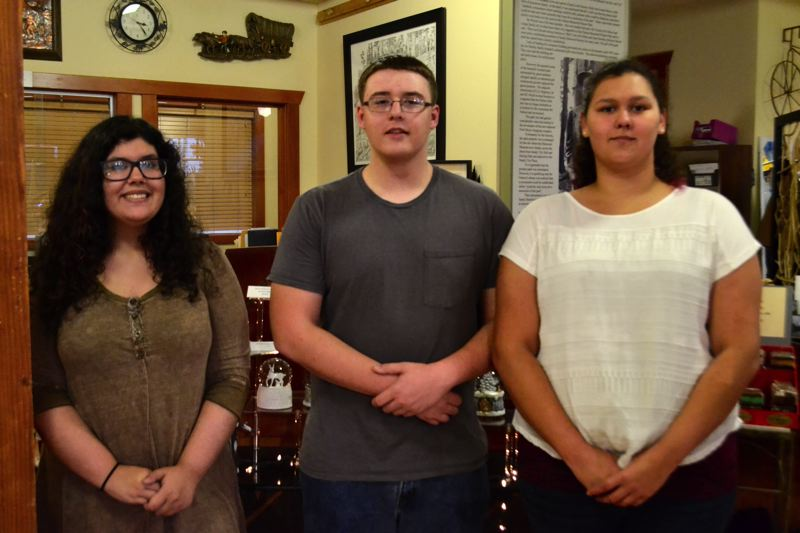 POST PHOTO: BRITTANY ALLEN - Nina Massey, Isaiah Lamon and Yolanda Sanchez started their internships with the Sandy Historical Museum on Oct. 18.