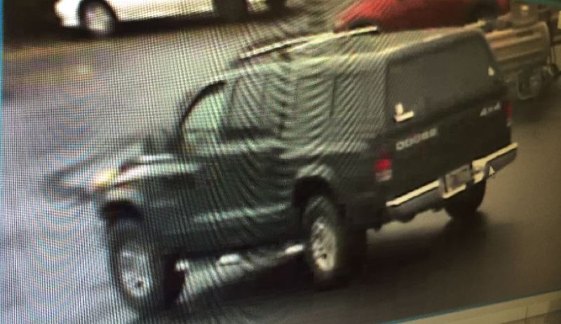 PHOTO COURTESY: OCPD - The suspects are associated with a dark colored Dodge Dakota with matching canopy.